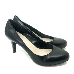 Franco Sarto Black platform Madison heel pumps